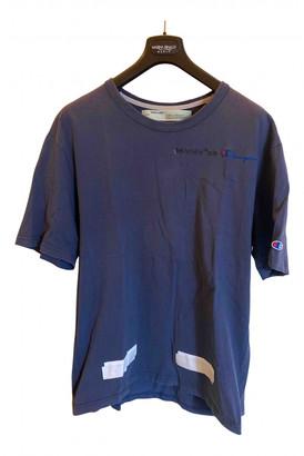 Off-White Blue Cotton T-shirts