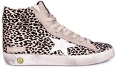 Golden Goose Deluxe Brand Francy Leopard Zip-up Trainers
