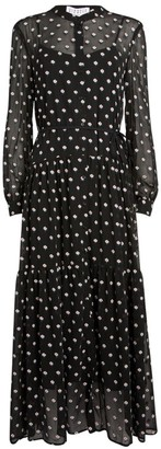 Claudie Pierlot Embroidered Floral Maxi Dress