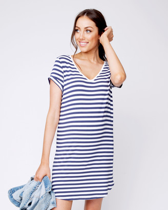 Ripe Maternity Women's Blue Shift Dresses - Relaxed T-Shirt Dress - Size One Size, XS at The Iconic