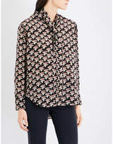 MiH Jeans Twigs silk-crepe de chine shirt