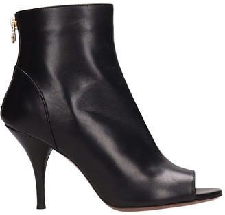 L'Autre Chose Black Leather Ankle Boots