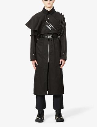 Pieces Uniques La Cle Guardian lock-embellished cotton-drill coat