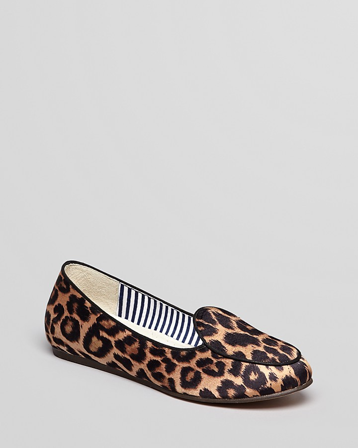 Charles Philip Smoking Flats - Olimpia Leopard Loafer