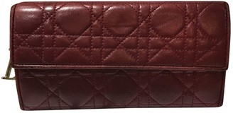 Christian Dior Red Leather Wallets