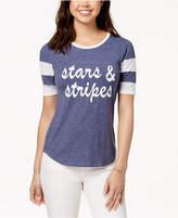 Rebellious One Juniors' Stars & Stripes Graphic T-Shirt