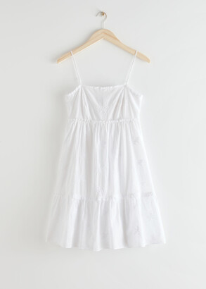 And other stories Frilled Spaghetti Strap Mini Dress