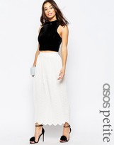 Asos Chevron Pleat Maxi Skirt