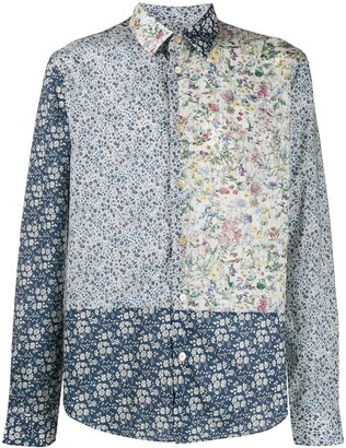 Paul Smith Patchwork Floral Print Shirt