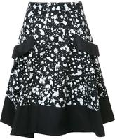 Carolina Herrera splatter paint skirt - women - Cotton - 10