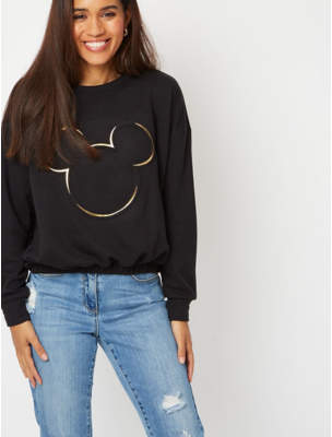 Disney George Mickey Mouse Cropped Top