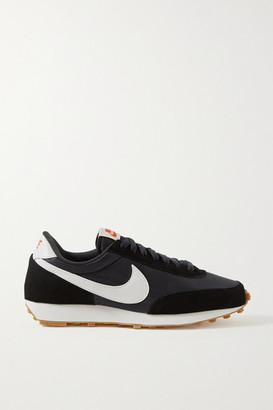 Nike Daybreak Shell, Suede And Leather Sneakers - Black