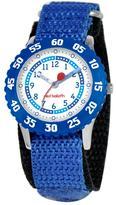 Kid's Stainless Steel Time Teacher Watch - Blue Strap