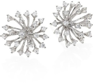 Hueb Luminus Diamond & 18K White Gold Stud Earrings