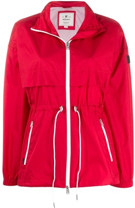 Woolrich Zipped Drawstring Parka Coat