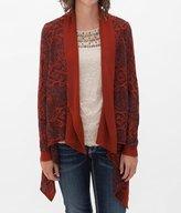 Daytrip Women's Southwestern Cardigan Sweater in Orange