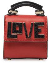Les Petits Joueurs Handbags Nano Alex Black Widow Top Handle Charm Bag, Black/Red