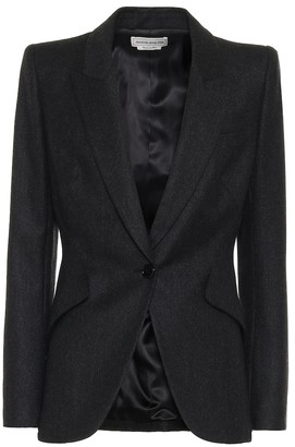 Alexander McQueen Single-breasted wool blazer
