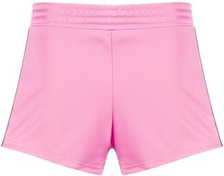 Chiara Ferragni Elasticated Logo Stripe Shorts