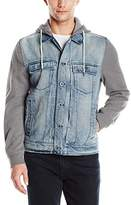 Calvin Klein Jeans Men's Mixed Media Trucker Jacket