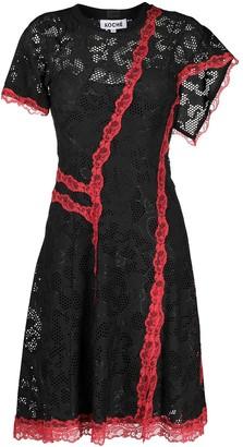 Koché Asymmetric Lace Dress