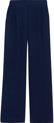 Max Mara Nuble Pleated Silk Crepe De Chine Wide-leg Pants