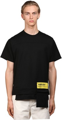Ambush Logo Cotton Jersey T-Shirt W/ Pocket