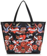 Love Moschino Hearts & Flowers Faux Leather Tote