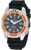 Momentum Men's 1M-DV06O1B M1-Deep 6 Black Polyurethane Band Dial Dive Watch