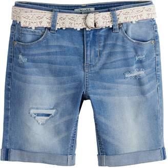 Mudd Girls 7-16 Bermuda Jean Shorts