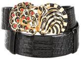 Judith Leiber Embellished Crocodile Belt
