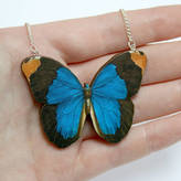 Tabitha Ladybird Likes Wooden Butterfly Necklace