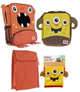 Nuby Insulated Lunch Bag Combo with Snack Bags (Orange-Yellow)