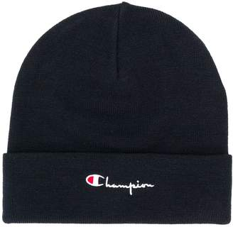 Champion embroidered logo beanie hat