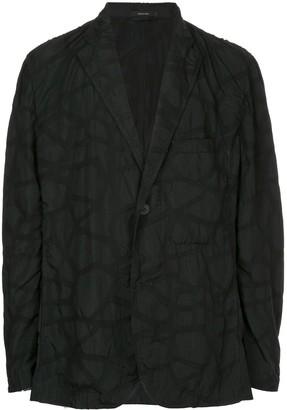 Issey Miyake oversized patterned jacket