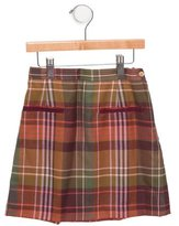 Oscar de la Renta Girls' Plaid Wool Skirt w/ Tags