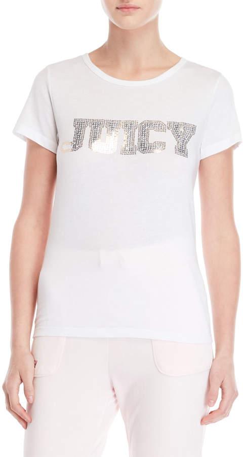 Juicy Couture Sequin Logo Tee