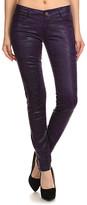 Couture Miss Kitty Women's Denim Pants and Jeans PURPLE - Purple Metallic Skinny Pants - Juniors