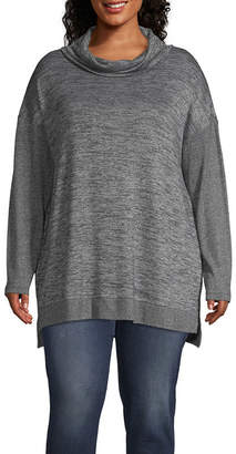 A.N.A Plus Womens Cowl Neck Long Sleeve Tunic Top