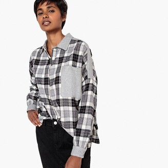 La Redoute Collections Check Print Flannel Shirt