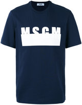 MSGM logo print T-shirt - men - Cotton - S