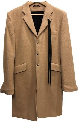 Ann Demeulemeester Camel Wool Coats