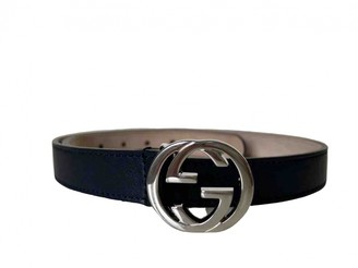 Gucci Blue Leather Belts.Suspenders