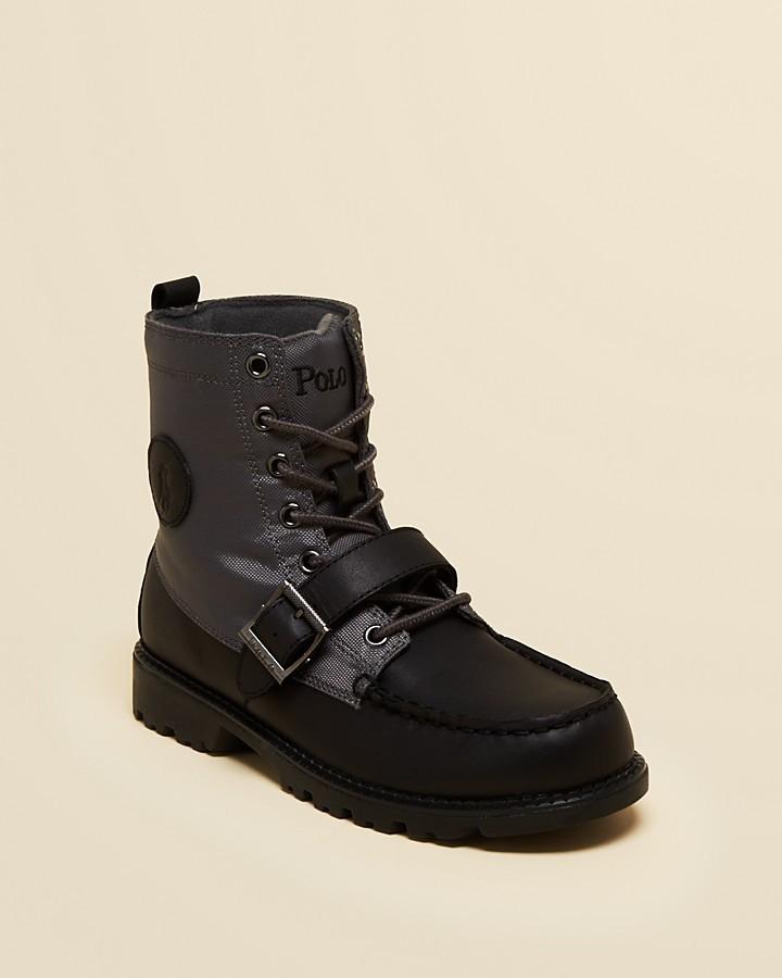 Ralph Lauren Boys' Ranger Hi II Boots - Big Kid