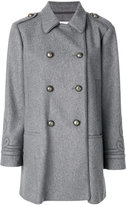 RED Valentino fitted double-breasted coat - women - Polyamide/Polyester/Acetate/Wool - 40