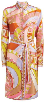 Emilio Pucci Wally Print Belted Shirt Dress