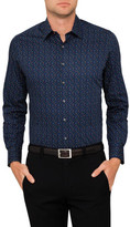 West End by Simon Carter Triangle Print Single Cuff Shirt