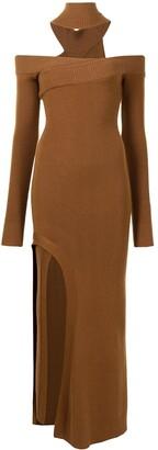 Monse Off-Shoulder Turtleneck Arch Dress