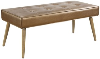 Osp Home Furnishings Ave Six Amity Metallic Finish Bench