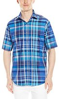 Bugatchi Men's Nasiba Short Sleeve Clashort Sleeveic Button Down Shirt